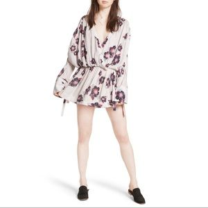 Free People Floral Tuscan Dreams Tunic Dress